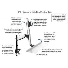 Desk Height Calculator by Rocelco Efd Ergonomic Sit To Stand Floating Desk U2013 Stretch Desks