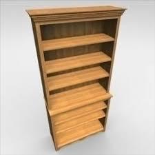3d Bookshelf Wooden Table Medieval 3d Model Desk Den Max Ar Vr
