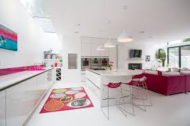 Funky Pendant Lights Luxury Flooring Options For Modern Kitchen And Family Room Design