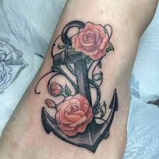 anchor and roses via nautical