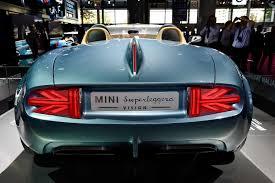 bmw vintage concept paris motor show mini superleggera vision concept stuns www