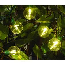 time led g40 bright light set green wire warm white