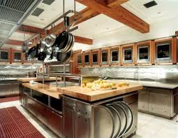 contemporary restaurant kitchen layout 3d in decor