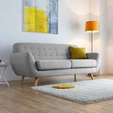 canapé nordique concept usine helsinki 3p canapé scandinave 3 places gris