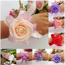 wrist corsage supplies wedding banquet party supplies bridal bridesmaid flower wrist
