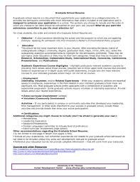 Academic Resume Template For College Graduate Resume Academic Curriculum Vitae For Graduate