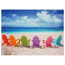 Amazon Beach Chair Amazon Com Oriental Furniture Beach Chairs Canvas Wall Art