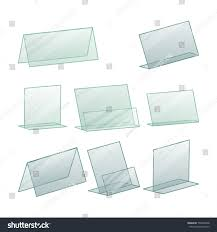 paper stand holder table blank plastic stand holder empty stock illustration