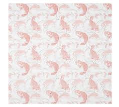 Fish Duvet Cover Koi Fish Organic Duvet Cover U0026 Sham Pottery Barn