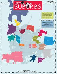 Map Of Columbus Columbus Suburbs Map Map Of Columbus Suburbs Ohio Usa