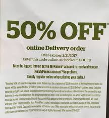 panera coupon code for 50 delivery order in houston