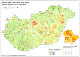 Map Of Budapest Archungary Vector Map Of Hungary With New Demography Data Geox