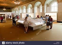 the white house visitor center interior washington dc usa stock