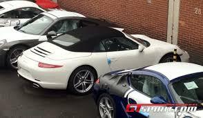 porsche 911 factory spotted porsche 911 991 convertible near factory gtspirit