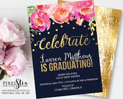 graduation party invitation cards floral graduation invitation graduation party invitations