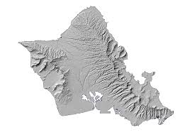 Map Of Hawaii Islands Hillshade Stock Maps Maps Of Hawaii Maps For Entire State