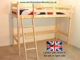 X  X Cm Oscar Natural Ft Single Solid Pine Loft Bunk Bed - Single bed bunks
