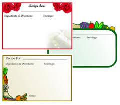 printable recipe card templates free