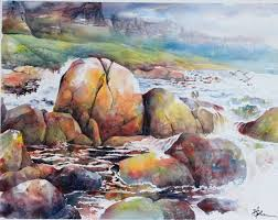 lian quan zhen watercolor drawingwatercolor landscapechinese