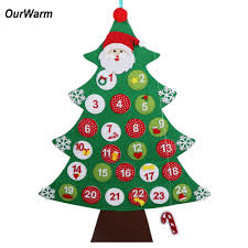 ourwarm felt advent calendars countdown decor