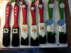 diy paint brush santa ornaments your craft