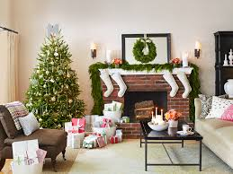 white christmas mantel decor