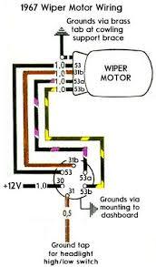 bosch wiper motor wiring diagram 1968 camaro wiper motor schematic