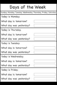 Fact Family Worksheets Days Of The Week U2013 Worksheet Free Printable Worksheets