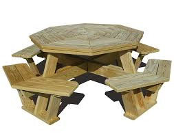 Best Wood To Make Picnic Table by Wooden Octagon Picnic Table Outdoorlivingdecor