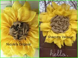 burlap sunflower wreath we nailed the sunflower wreath sharsum s great finds