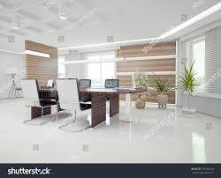 Modern Office Interior Design Concept Stock Illustration - Modern interior design concept