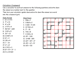 gcse maths starter calculator crossword by mrbuckton4maths