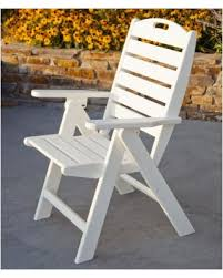 Plastic High Back Patio Chairs Savings On Outdoor Polywood Nautical Recycled Plastic Highback