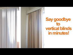 Putting Curtain Rods Up How To Hide Or Replace Vertical Blinds With Curtains In A Rental