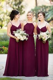 bridal party dresses best 25 burgundy bridesmaid dresses ideas on wedding