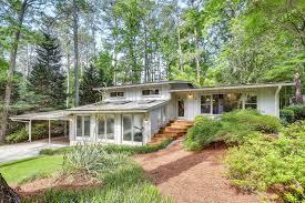 mid century modern northcrest home modern atlanta homes for sale