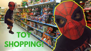 toy shopping hunt at target with aizen and jaejin spiderman