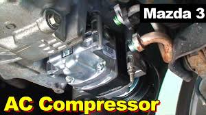 2004 2009 mazda 3 ac compressor youtube