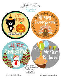 first halloween first thanksgiving holiday stickers first