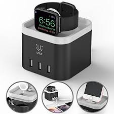 Nightstand Ipad Amazon Com Apple Charging Dock Apple Iphone Watch Stand 4 Port