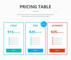 pricing table template stock photos payslip samples