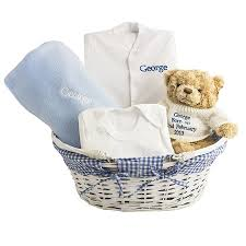 customized gift baskets personalised baby boy gift basket by and willow
