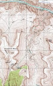 Topographic Map Of Arizona by Topographic Map Of Hance Creek Grand Canyon National Park Arizona