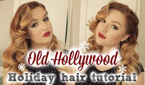 holiday hairstyle old hollywood vintage curls youtube