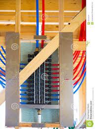 plumbing manifold system pex tubing stock images image 31373544