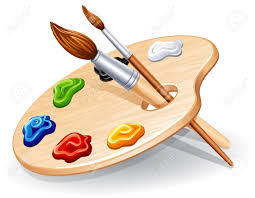 Paint Pallet by Paint Palette And Brush
