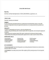 Office Clerical Resume Office Clerical Resume Sles 28 Images Retail Sales Associate