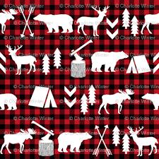 plaid christmas buffalo plaid woodland christmas winter fall cabin print fabric