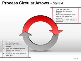 relationship diagram process circular arrows 2 stages powerpoint