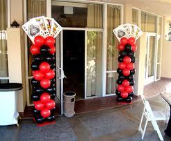Columns For Party Decorations Casino Las Vegas Party Festa Tema Decoração Decor Las